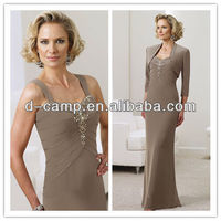 ME-170 brown mother of the bride dresses with jacket