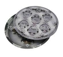 Round Food grade tin serving tray wholesale metal tin tray