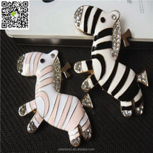 2015 hot sale lovely cartoon zebra metal accessories colorful with diamond
