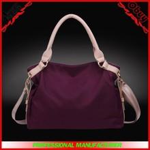 Hebei Baigou wholesale nylon handbag waterproof leather women shoulder bag