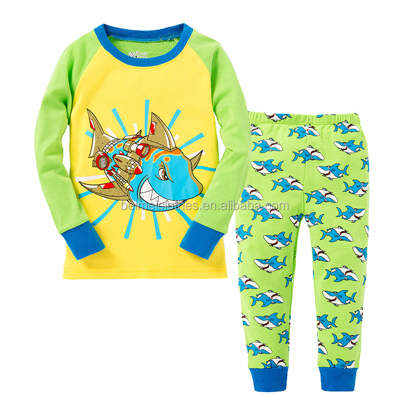 Shark Fashion Children Clothing Boys And Girls Pajamas