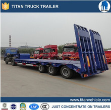 3 alxes lowbed semi trailers, lowbed trailer dimensions customized hot sell