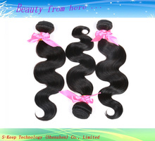 Wholesale remy hair extension, Grade 7a virgin hair, 100% Virgin Remy Indian Human Hair