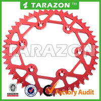 Tarazon cnc machined aluminum rear sprockets for ktm honda yamaha suzuki off road bikes