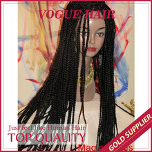 Modern Middle Part Micro Braiding Synthetic Hair Lace Front Wigs
