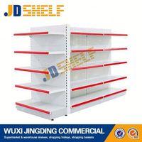 double side supermarket shelf metal convenience store shelf