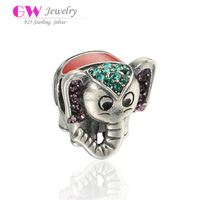 Animal Series Elephant Model 925 Silver Beads For Making Bracelet X351