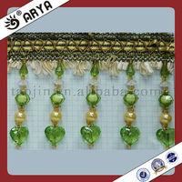 Green Beaded Curtain Trimming,Tassel Trim Fringe hot in 2013