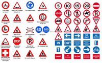 High quality aluminium reflective road traffic sign