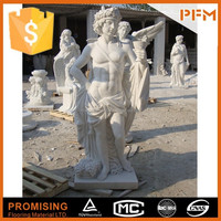 PFM Natural stone hand carved decorative mermaid figurines and statues