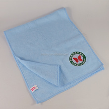 KLM-074 factory direct sale embroidery customized logo or letter blue color sports towel for GYM company promotion