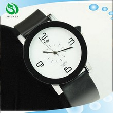 2015 Brand Big Dial Lover's Women Watches Fashion Plastic Couple Table Dress Watch