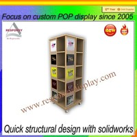 wood furniture display stand with wheels for sale