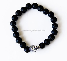 Buddha Bracelet with Lava Grounding Stones Men or Women buddha jewelry bracelets