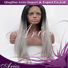 wholesale Lace Front Wig Glueless Straight Ombre Two Tone Natural black/Grey