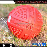 2015 New ! Squeaky Natural Rubber Dog Toy
