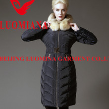2015 ladies fashion dress customized women duck down jacket