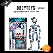 Funny paper cardboard DIY skull halloween decoration removable skeleton toy DBH0115