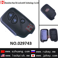 High quality 3 button replacemet smart remote key cover,case,shell,casing for car door lock lexs/029743