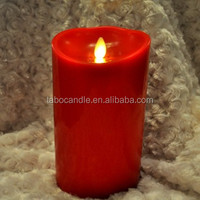 Scented windproof Feature moving magic flame led candle