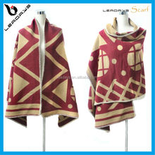 geometry printing cashmere wholesale shawl