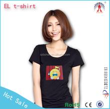 merry christmas custom led t shirt/led music light t shirt/Custom Design EL T-shirts