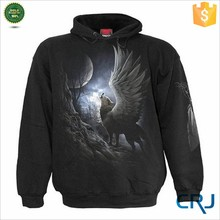 OEM Pullover Screen Print Animal Wolf Hoodies