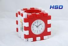 HSD House Shape Cute Plastic Table Clcok 2037