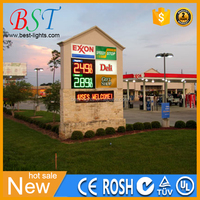 Led digital price changer customized size with silk LED letters and car wash