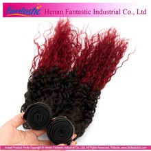5A 6A 7A best quality unprocessed full cuticle hair Indian wavy hair cheap burgundy curly hair weaving