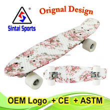 Penny Style Graphic Skateboard Complete 22'' Skateboard Floral Board