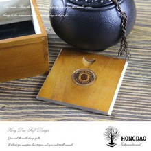 HONGDAO home storage wooden box with sliding lids,unfinished wood boxes with lids