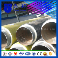 polyurethane yellow foam insulated buried for hot water insulation pipe