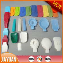 colorful silicone blue & pink kitchen utensils