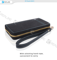 Genuine leather protective mobile phone pouch