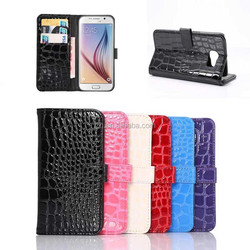For Samsung Galaxy S6 G9200 Crocodile Wallet PU Leather Protective Case