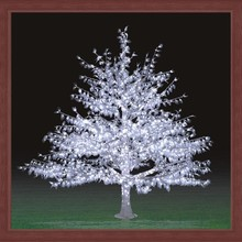 2014 hot sell new white LED Christmas light tree 2.5m crystal effect for Christmas & holiday decoration