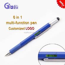 promotional Multi-function 5in1 level pen