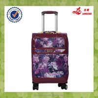 New Design Purple Rosel PU Spinner Wheel Alumiunm Trolley Frame Luggage
