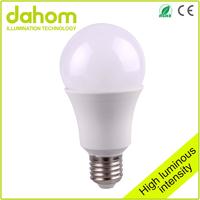 CE RoHS Approved energy saving slim shape plastic material 7W 640lm led light bulb