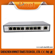 oem 8 port 10/100mbps network 48v poe switch made in china