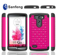 China supplier hard cases and covers for LG optimus G3mini diamond plastic material