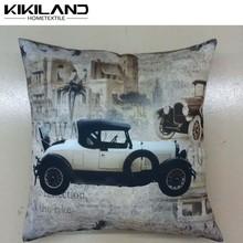 clásico de plata impresa del coche baratos al por mayor de imágenes almohadas decorativas