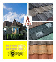 Classic Colorful Stone Coated Metal Roofing Tile/ Metal Tile Roof/Stone Chip Coated Metal Roof Tiles