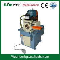 Semi automatic single head deburing and edge rounding machine for round steel bar rod pipe tube LDJ-80