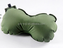 self inflating camping bean pillow automatic inflatable bean travel pillow