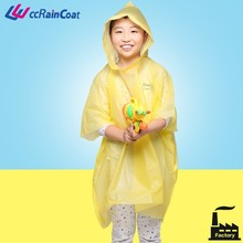 bulk emergency PEVA rain disposable poncho with sleeves and hood