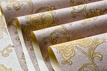 China Famous Wallpaper Brand Manufacturer Produce 3d shiny decorative Wallpaper