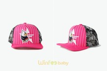 guangzhou wholesale baby kids children embroidered striped trucker snapback hat
