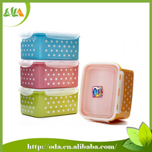 2015 new products easy lock BPA free plastic airtight food container